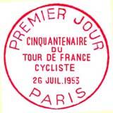 Oblitération 1er jour à Paris le 26 juillet 1953