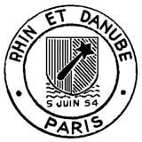 Oblitération 1er jour à Paris le 5 juin 1954