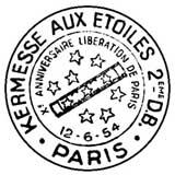 Oblitération 1er jour à Paris le 12 juin 1954
