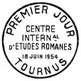 Oblitération 1er jour à Tounus le 18 juin 1954