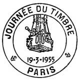 Oblitération 1er jour le 19 mars 1955