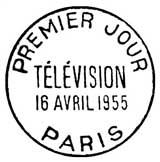 Oblitération 1er jour à Paris le 16 avril 1955