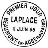 Oblitération 1er jour à Beaumont le 11 juin 1955