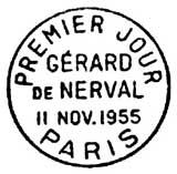 Oblitération 1er jour à Paris Salon Philatélique d'Automne le 11 novembre 1955