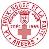 Oblitération 1er jour à Angers le 17 décembre 1955
