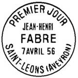 Oblitération 1er jour à Saint-Léons le 7 avril 1956