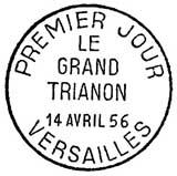 Oblitération 1er jour à Versailles le 14 avril 1956