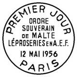 Oblitération 1er jour à Paris le 12 mai 1956