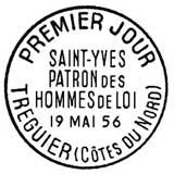 Oblitération 1er jour à Tréguier le 19 mai 1956