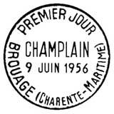 Oblitération 1er jour à Paris et Brouage le 9 juin 1956