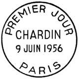 Oblitération 1er jour à Paris le 9 juin 1956