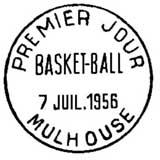 Oblitération 1er jour à Mulhouse le 7 juillet 1956