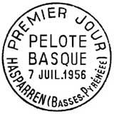 Oblitération 1er jour à Hasparen le 7 juillet 1956