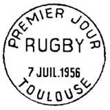Oblitération 1er jour à Toulouse le 7 juillet 1956