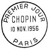 Oblitération 1er jour à Paris Salon philatélique d'Automne le 10 novembre 1956