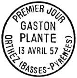 Oblitération 1er jour à Orthez le 13 avril 1957