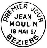Oblitération 1er jour à Béziers le 18 mai 1957