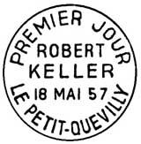 Oblitération 1er jour à Petit-Quevilly le 18 mai 1957
