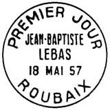Oblitération 1er jour à Roubais le 18 mai 1957