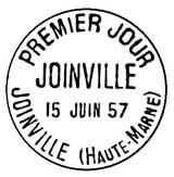Oblitération 1er jour à Joinville le 15 juin 1957