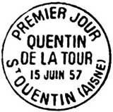 Oblitération 1er jour à Saint-Quentin le 15 juin 1957