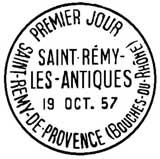 Oblitération 1er jour à Saint-Rémy le 19 octobre 1957
