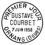 Oblitération 1er jour à Ormans le 7 juin 1958