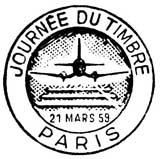 Oblitération 1er jour le 21 mars 1959