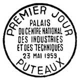 Oblitération 1er jour à Puteaux le 23 mai 1959