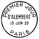 Oblitération 1er jour à Paris le 13 juin 1959