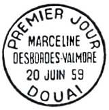 Oblitération 1er jour à Douai le 20 juin 1959