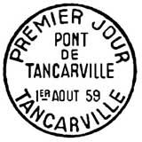 Oblitération 1er jour à Tancarville le 1 aout 1959