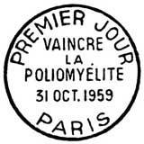 Oblitération 1er jour à Paris au Salon de l'enfance le 31 octobre 1959