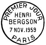 Oblitération 1er jour à Paris le 7 novembre 1959