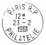 Oblitération 1er jour au Musée Postal le 23 février 1961
