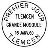 Oblitération 1er jour à Tlemcen (Algérie) le 16 janvier 1960