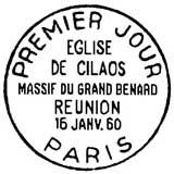 Oblitération 1er jour à Paris le 16 janvier 1960