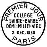 Oblitération 1er jour à Paris le 3 décembre 1960