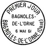 Oblitération 1er jour à Bagnoles de l'Orne le 6 mai 1961