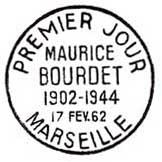 Oblitération 1er jour à Marseille et Paris le 17 février 1962