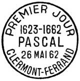 Oblitération 1er jour à Clermont-Ferrant le 26 mai 1962