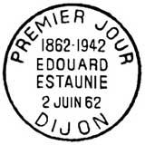 Oblitération 1er jour à Dijon le 2 juin 1962