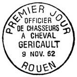 Oblitération 1er jour à Rouen et Paris le 9 novembre 1962