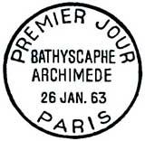 Oblitération 1er jour à Paris le 26 janvier 1963