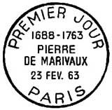 Oblitération 1er jour à Paris le 23 février 1963