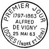 Oblitération 1er jour à Loches le 25 mai 1963