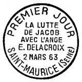 Oblitération 1er jour à St-Maurice le 2 mars 1963