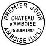 Oblitération 1er jour à Amboise le 15 juin 1963