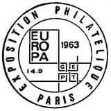Oblitération 1er jour à Paris et Strasbourg le 14 septembre 1963