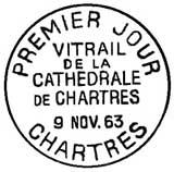Oblitération 1er jour à Chartres le 9 novembre 1963